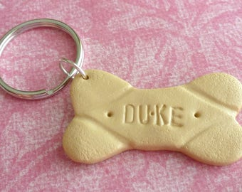 Personalized Milk-Bone Custom Gifts Personalized Key Ring Polymer Clay