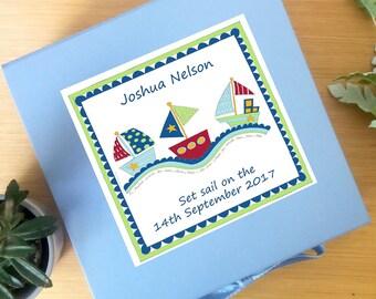 Keepsake Memory Box-Baby Boy Gift- Personalised-Memory Box-First Birthday-Gift -Baby Memory Box - Keepsake Box - Baby Shower Gift - Baptism