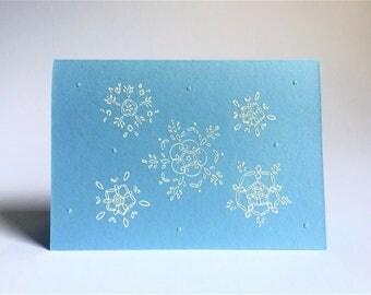 White Snowflake Greeting Card