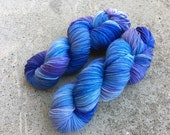 Hand dyed yarn Dandy sock -'Waterfall'