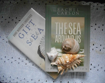 Book Bundle. Gift From The Sea by Anne Morrow Lindbergh Hardcover  & The Sea Around us by Rachel Carson paperback