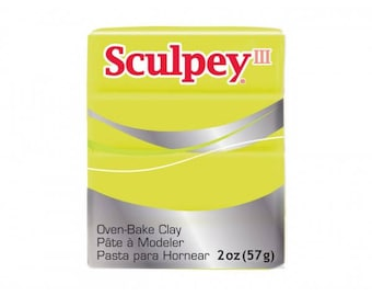 Clay Sculpey III Acid Yellow Yellow acid 57g