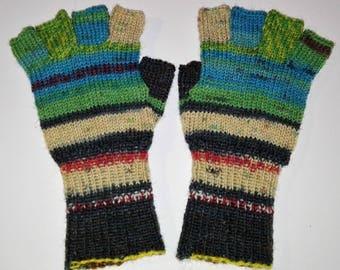 Hundertwasser gloves half finger