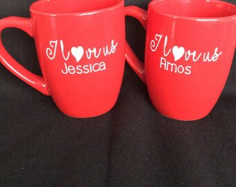 Schön Personalized Valentine Mugs, Personalized Coffee Cups, Red Cups, Mugs,  Drinkware,