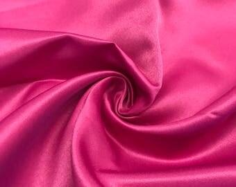 """Magenta Matte Satin (Peau de Soie) Duchess Fabric Bridesmaid Dress 60"""" Wide Sold BTY"""