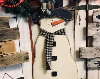 Country Primitive Christmas Snowman