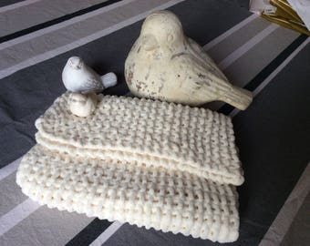 "Small blanket ""cotton cocoon"".doudou.d' absolute softness!"
