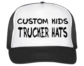 Custom KIDS Trucker Hats// Customizable // snapback // adjustable // Birthday Parties // Special Occasions