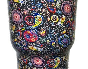 30 oz Paisley Stainless Steel Tumbler with 100% Splash Proof Lid-Double-Wall Insulated Tumbler for Hot & Cold Drinks-Sweat-Free Tumbler