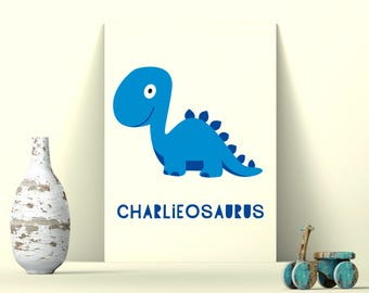 Personalised Dinosaur Print, Nursery Print, Kids Prints, Kids Room Prints
