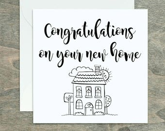New home card, Moving card, New house card, Housewarming card