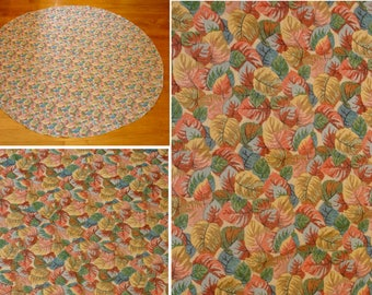 Vintage fall tablecloth-fall leaf  table cloth-autumn leaves  linen-thanksgiving tablecloth-halloween tablecloth-round tablecloth