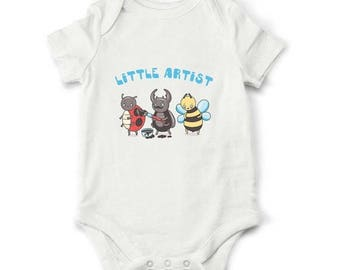 20% OFF SALE Little artist baby bodysuit, cute baby clothes, baby shower gift, Art baby, Baby boy, Baby girl, Baby gift