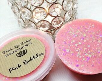 Pink Bubbles Scented Soy Wax Melt - Soy Wax Tart Pot - Wax Melts