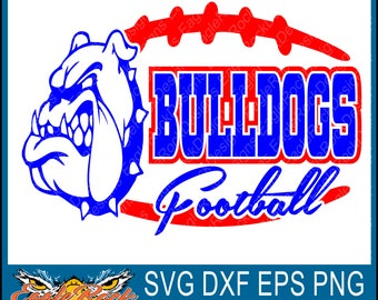 Bulldogs Football  SVG  DXF  EPS  Png  Cut File  Bulldogs  Football  Bulldogs Cut File  Football Cut File  Silhouette  Digital Download