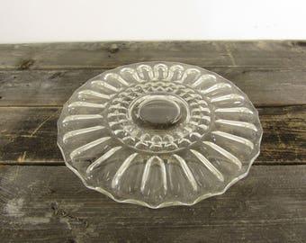 SALE!! Pretty Glass Cake Stand ~ Cake Plate ~ Vintage Cake Stand ~ Wedding Cake Plate ~ Dessert Stand