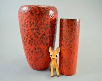 Vintage set of 2 vases / Wächtersbach   West Germany   WGP   60s