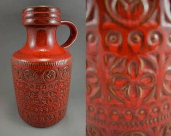 Vintage vase / Scheurich / 489 39 / Decor Foligna | West Germany | WGP | 60s