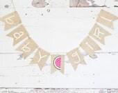 Watermelon Baby Shower Decor, Watermelon Gender Reveal, Watermelon Shower Decoration, Summer Baby Shower Decor, Watermelon It's A Girl, B826