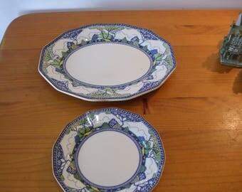 "Royal Doulton ""Merryweather"" Art Deco plates"