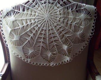 Large fine crochet doily