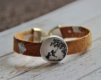 Cork bracelet and glass cork bracelet