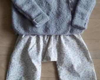 Set in pure cotton and alpaca