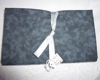 Coupon of fabrics fake plain Blue Navy - gray patch 50 * 50cm