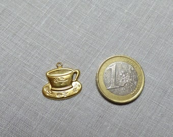 Gold Cup and saucer color charm