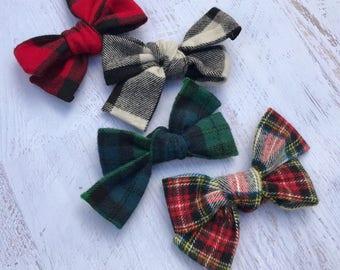 Plaid Fabric Bows   Christmas Bows   Baby Bows   Baby Headbands   Toddler Bows   Toddler Headbands   Toddler Hair Clips   Girls Hair Clips  
