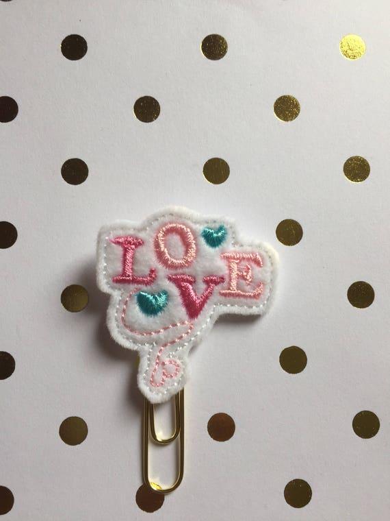 Love planner Clip/Planner Clip/Bookmark.