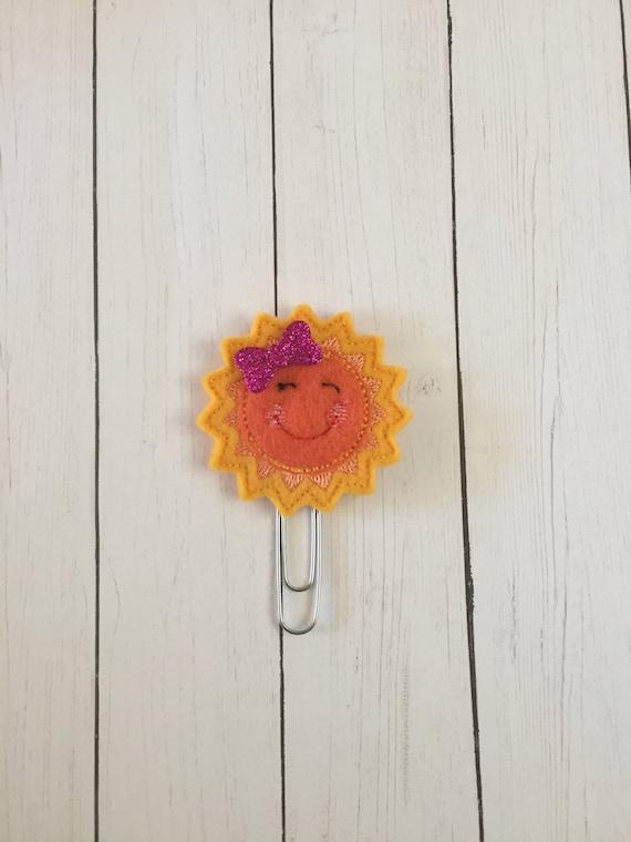 Sun Planner Clip/Planner Clip/Bookmark. Sunshine Planner Clip. Summer Planner Clip. Weather Planner Clip