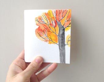 a handmade notebook, TREE