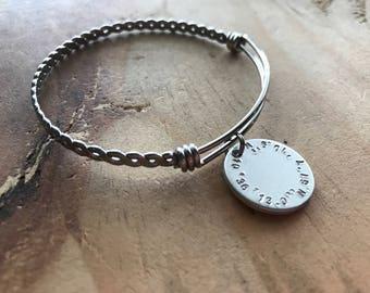 Coordinates bangle gps coordinates gift latitude longitude bracelet long distance friendship long distance gift for mom bangle sister gift