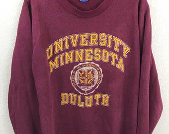 Vintage Champion University of Minnesota Golden Gophers Heathered Crewneck Sweatshirt L