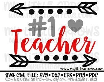 Number 1 Teacher - Teaching shirt - Teacher gift svg - chaos coordinator svg - vinyl cut files for teachers -cricut files - #1 teacher svg