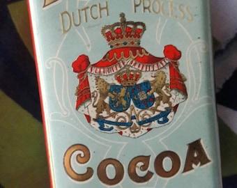 VINTAGE Droast's Cocoa Chocolate Tin Holland