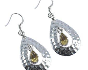 Citrine Gemstone 925 Sterling Silver Handmade Earring AG-1906