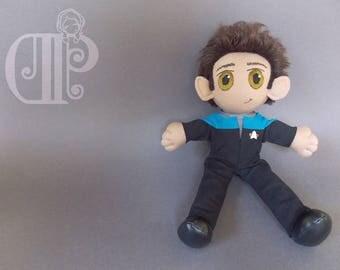 Julian Bashir Star Trek Deep Space 9 Plush Doll Plushie Toy [READY TO SHIP]