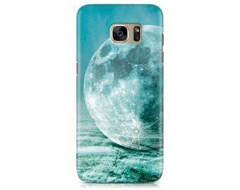 Case for Samsung Galaxy S7 S7 Edge Galaxy S8 Galaxy S8 Plus iPhone 7 iPhone 7 Plus LG G4 LG G5 Htc 10 Htc M9 Moon on Ocean Texture