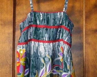 ON SALE Vintage Pura Vida Summer Floral Cami Top w/Adjustable Straps-Size S