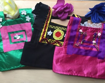 Mexican Dog Dress/ Frida dog Costume/ Frida Kahlo dog dress / Frida Kahlo dog collection