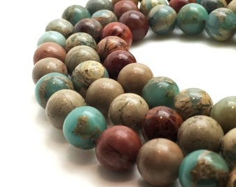 6mm Natural Serpentine Beads Round 6mm Serpentine 6mm Serpentine Beads Serpentine 6mm Multicolor Beads Natural