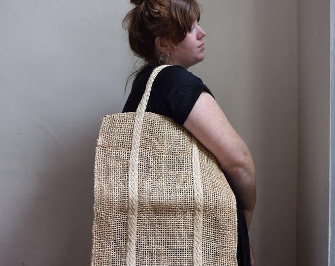 oversized woven market bag.
