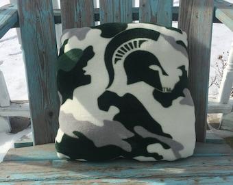 Fleece Michigan State Pillow