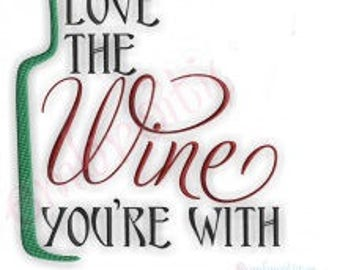 Love the wine your with Flour Sack Towel Kitchen