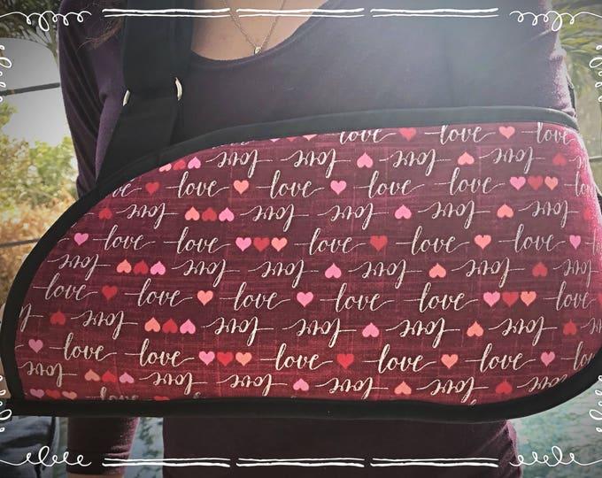 Valentine's Love Arm Sling - child arm sling - adult arm sling