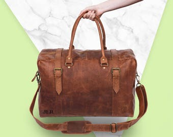 The Eckhart Holdall - Leather Doctor bag in Vintage Brown by MAHI Leather