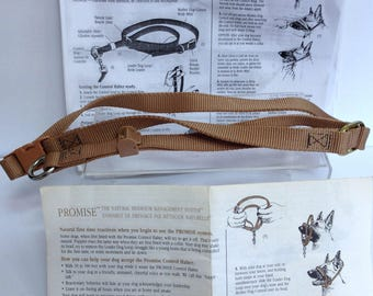 Dog Harness Collar Lead, Promise Dog Training System, Dog Walking Accessory, Lead Collar, Unused Vintage Dog Control Harness Size Large