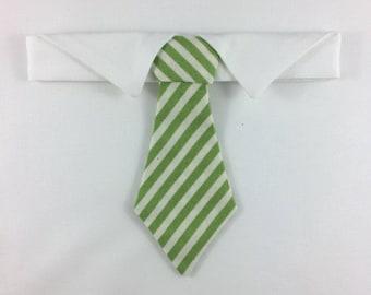 Green Striped Cat Necktie, Cat tie, Cat Necktie collar